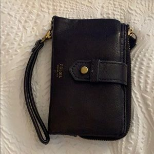 Blue fossil wallet